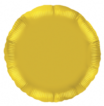 "Gold Round Foil Balloon (18"" Oaktree) 1pc"